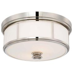 Minka Lavery 2-Light Polished Nickel Flushmount-4365-613 - The Home Depot