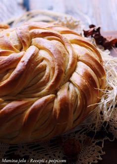 Sastojci   oko 630 g. brašna  1 jaje  30 g. svežeg ili 7 g. suvog kvasca  180 ml. tople vode  180 ml. kiselog mleka  70 ml. ulja  1 kašika...