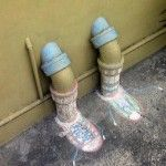 """Street Art from a Chalk Street Art Project! """"Jumping in with both feet!"""""""