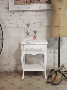 Painted Cottage Chic Shabby White Romantic by paintedcottages, $195.00
