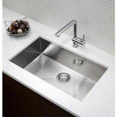 Blanco - Quatrus U1 Maxi, Stainless Steel Sink, Single Large Bowl Undermount - SOP1448 - Home Depot Canada