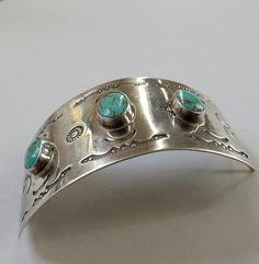 Vintage Silver and Turquoise Hair by stateandmainvintage on Etsy