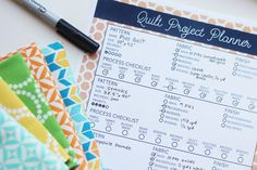 Hello Melly Quilt Project Planner Sample