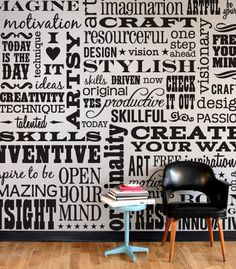 Typography wall