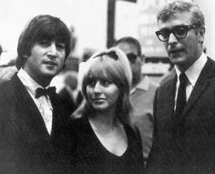 John Lennon and Cynthia Powell-Lennon with Michael Caine