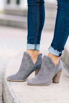 These booties would be perfect with my skinny ankles. I would probably want a slightly lower heel.
