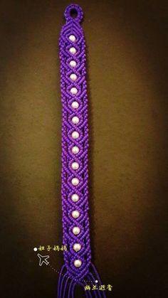 Macrame Tutorial 紫色魅惑 第1步