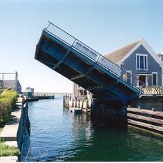 The drawbridge in Woods Hole, MA Cape Cod