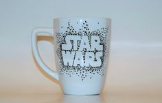 Star Wars Coffee Mug Star Wars Sharpie Mug Star by RiverbottomRose