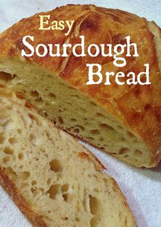 Basic Sourdough Bread EASY SOURDOUGH BREAD – Want to make someone feel really special? Want to feel great yourself? Give a loaf of homemade sourdough bread! Easy Sourdough Bread Recipe, Easy Bread Recipes, Baking Recipes, Sourdough Bread Starter, Sourdough Bread Machine, Artisan Bread Recipes, Sour Bread Recipe, Cornbread Recipes, Jiffy Cornbread