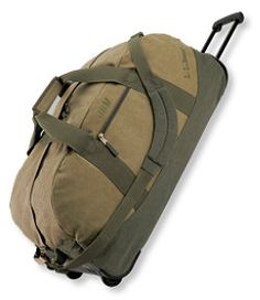 Sunwashed Canvas Rolling Adventure Duffle, Extra-Large I have this in grey. Ll Bean, Travel Luggage, Travel Essentials, Gym Bag, Rolls, Duffle Bags, Adventure, Canvas, Free Shipping