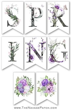 Our free printable spring banner is the perfect thing to usher in the season we've all been waiting for! Available in banner shape and rectangles. Free Banner, Diy Banner, Free Printable Art, Free Printables, Free Printable Banner Letters, Baby Showers, Banner Shapes, Spring Banner, Easter Banner