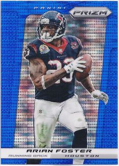 Arian Foster Houston Texans 2013 Panini Prizm (Blue Pulsar Parallel) card #29