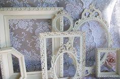 victorian shabby chic decor | Shabby Chic Frames, White Frames, Vintage Picture Frame Set, Ornate ...
