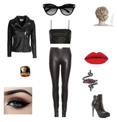 """""""Not enough leather"""" by valerieyagoda on Polyvore featuring Maison Margiela, T By Alexander Wang, IRO, Versace, Charles by Charles David, Ardell, Valentino, Michael Barin, women's clothing and women"""