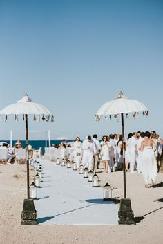 Ibiza beach wedding and an all white wedding party