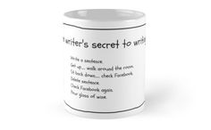The perfect companion for every budding writer Get Up And Walk, The Secret, Writer, Framed Prints, Mugs, Store, Glass, Do Crafts, Drinkware