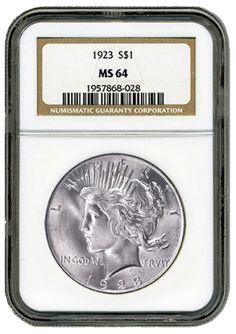 Peace Silver Dollars NGC/PCGS MS-64