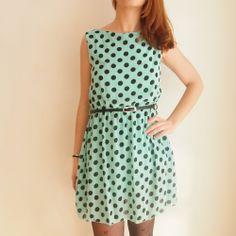 Dress dots turquesa de Ada