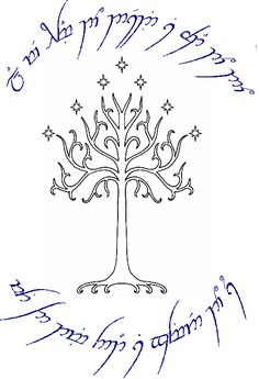 gondor tree mural | Lord Of The Rings Tattoo Tree