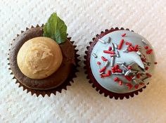 ohio state cupcakes, i could easily make these and they look so cute for an OSU game party