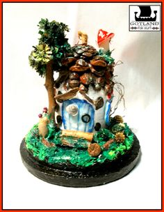Fairy house, tiny and delicate mixed media details. Signed by author.  - #fairy_gardens - #fairies -  #jardín_de_hadas #gnome_houses  - #casas_de_duendes