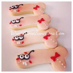 Penis Designer Custom Cookies Funny Characters by SweetSanctions