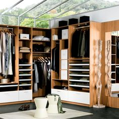glass enclosed closet - all that natural light!