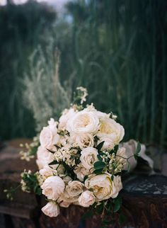 Lush White Wedding Bouquet | Brides.com