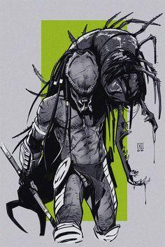 "creaturexlll: ""another illust for a fic Sainja w his prey Fantasy Castle, Fantasy Art, Alien Vs Predator, Predator Figure, Alien Art, Sci Fi Art, Fantasy Creatures, Comic Art, Concept Art"