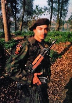 Foreign volunteer (probably Russian or Greek) in RSK forces during war in Bosnia.