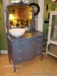Hall Bathroom, Upcycled Furniture, Custom Design, Vanity, Urban, The Originals, Home Decor, Bespoke Design, Vanity Area