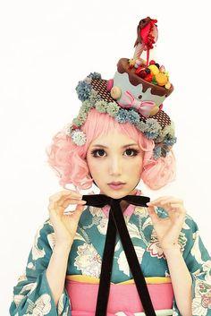 「氣仙えりかさまのフェイクスイーツファッションショー。」の画像|ダリヘアデザイン 高島の靭公園から徒然と |Ameba (アメーバ)