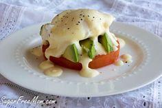 Lightened UP Eggs Benedict #lowcal #lowcarb/ sugarfreemom.com