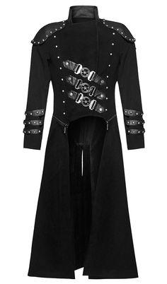 Nouveau produit : Manteau d'uniforme militaire long en laine noir punk post-apo officier Punk Rave Vous aimez ? / New product do you like ? Prix: 164.90 #new #nouveau #japanattitude #vestes #manteaux #gothique #gothic #punk #rock #jeuxvideo #occulte #occult #militaire #goth #post #apo #sangles #epaulettes #manteau #veste #laine #noir #military #straps #coat #vest #wool #black