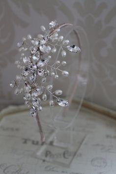 Handmade diamante tiara bridal headdress by Thehandmadetiara, £140.00