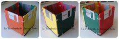 Tutorial caja hecha con disquetes. Diy diskette box