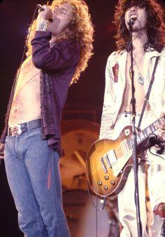 Robert Plant and Jimmy Page of Led Zeppelin # LedZep Jimmy Page, Great Bands, Cool Bands, Robert Plant Led Zeppelin, John Paul Jones, John Bonham, Greatest Rock Bands, Rock And Roll Bands, Rock Groups