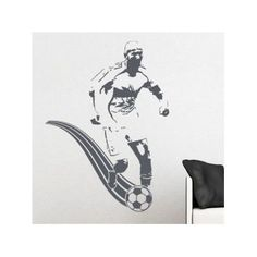 """Style and Apply Soccer Player Wall Decal Size: 48"""" H x 46"""" W, Color: Turquoise"""