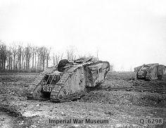 British tanks Mark II,shot down under the Arras.