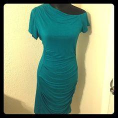 Bebe off the shoulder dress
