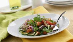 Ensalada de verduras con vinagreta de pipas