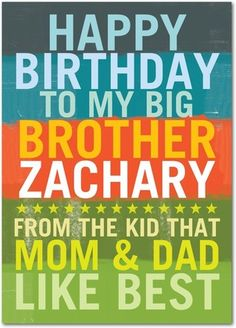 From The Favorite - Birthday cards for your brother from treat.com