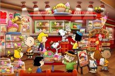 画像1: ■1000ピースジグソーパズル:PEANUTS/スヌーピー ピーナッツ・ケーキショップ《廃番商品》