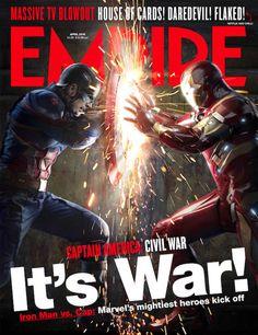 O último número da revista Empire dedica duas capas aCapitão América 3: Guerra Civil, que estreia no Brasil dia 28 de abril. Abaixo você confere a arte das capas (a segunda, exclusiva para assinan...