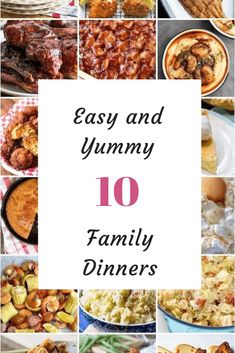 10 Easy dinners in 20 minutes. Here are some great dinner recipes that are simple but so delicious. Easy Family Dinners, Cheap Dinners, Easy Dinners, Great Dinner Recipes, Holiday Recipes, Dinner Ideas, Family Recipes, Beef Pot Roast, What To Cook