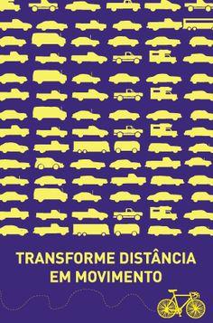 Poro - Intervenções urbanas e ações efêmeras | Cartaz: Transforme distância em movimento
