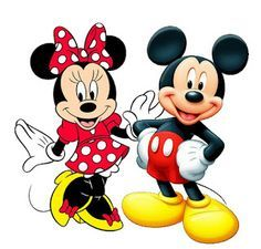Mickey and Minnie - Complete Kit with frames for invitations, labels for snacks, souvenirs and pictures! | Making My Party