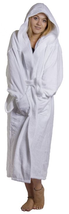 Bathrobe hooded robe 100% cotton plus xl 2xl 3xl 4xl mens ladies dressing  gown 447aafb79