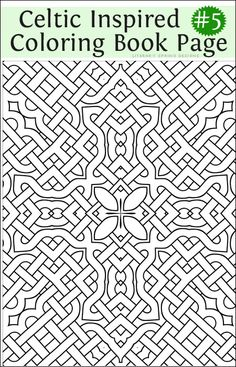 Printable Fancy Celtic Inspired Coloring Book Page